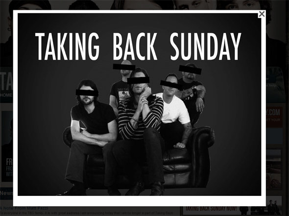 Taking Back Sunday Early Line-Up