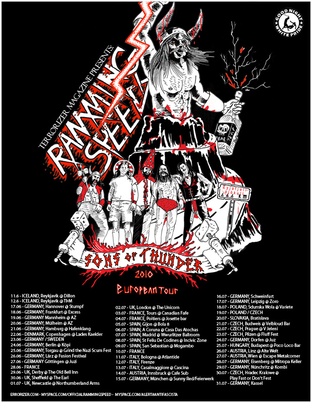 Ramming Speed Sons of Thunder Tour Poster