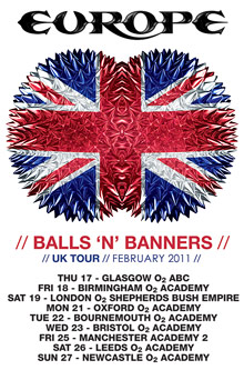 Europe Balls N Banners Tour Poster Small