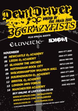 Devildriver 36 Crazyfists Tour Poster