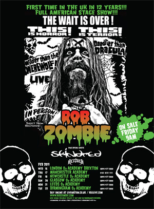 Rob Zombie UK Tour Poster