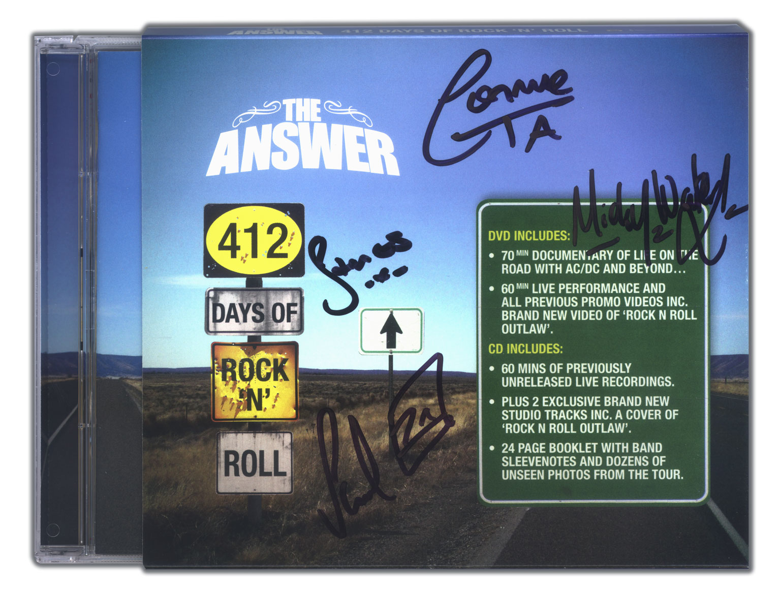 Signed The Answer 412 Days Of Rock N Roll DVD