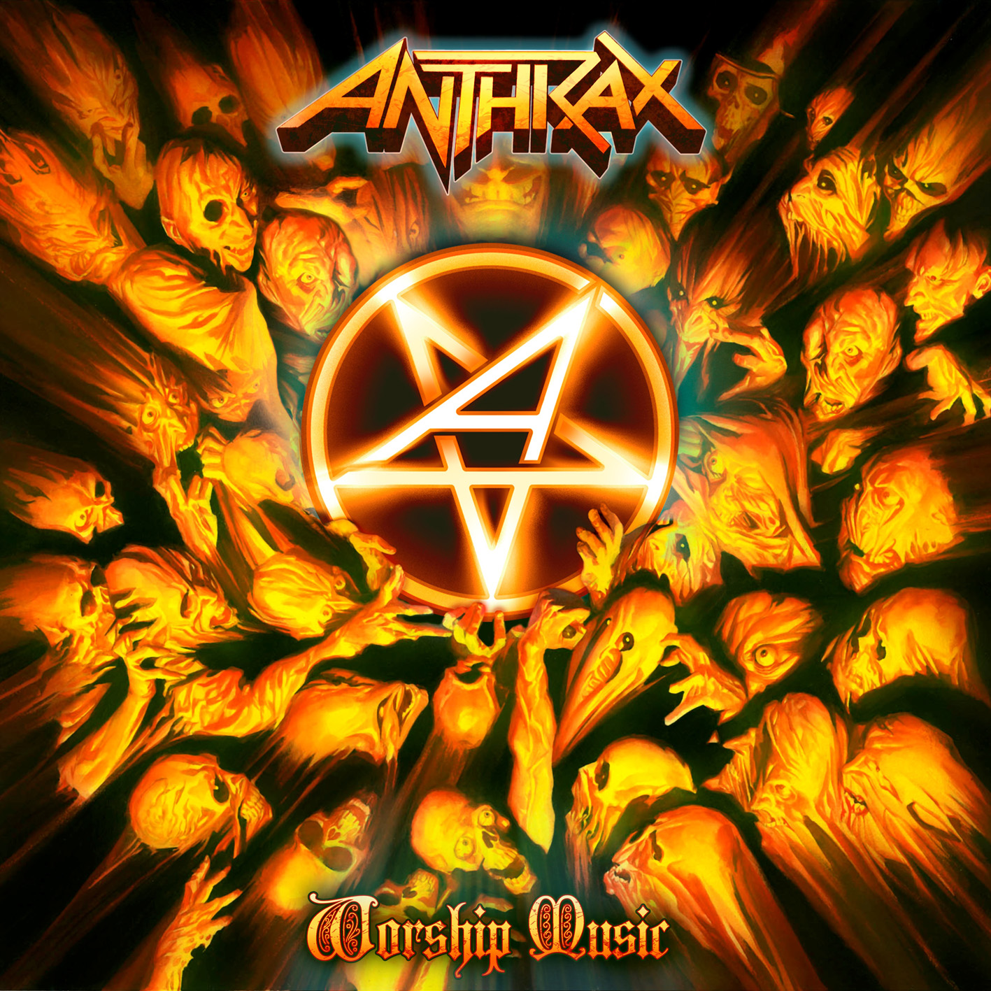 Anthrax Worship Music artwork
