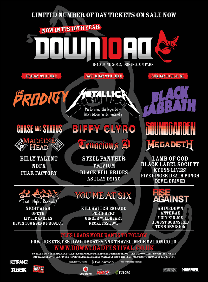 Download Festival 2012 Poster