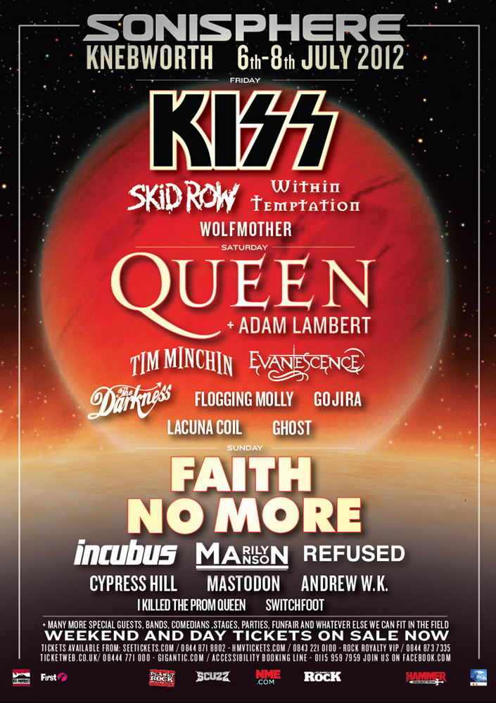 Sonisphere 2012 Poster Two