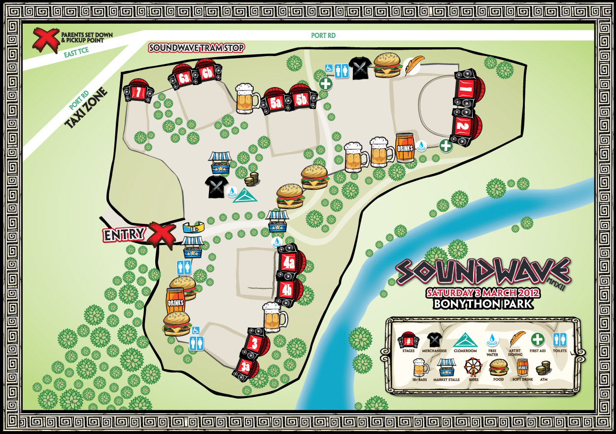 Soundwave 2012 Adelaide Map