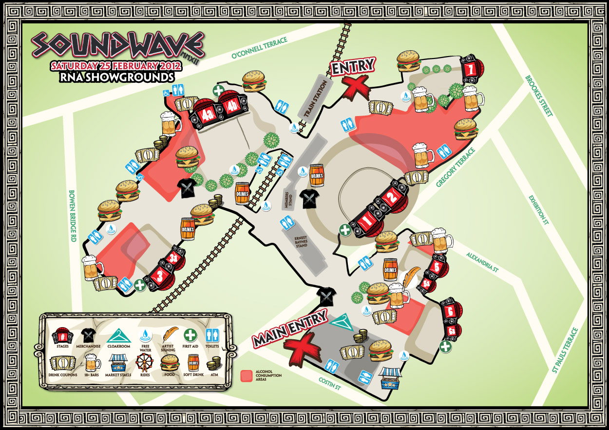 Soundwave 2012 Brisbane Map