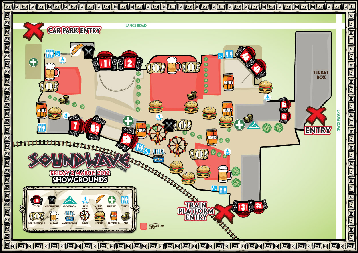 Soundwave 2012 Melbourne Map