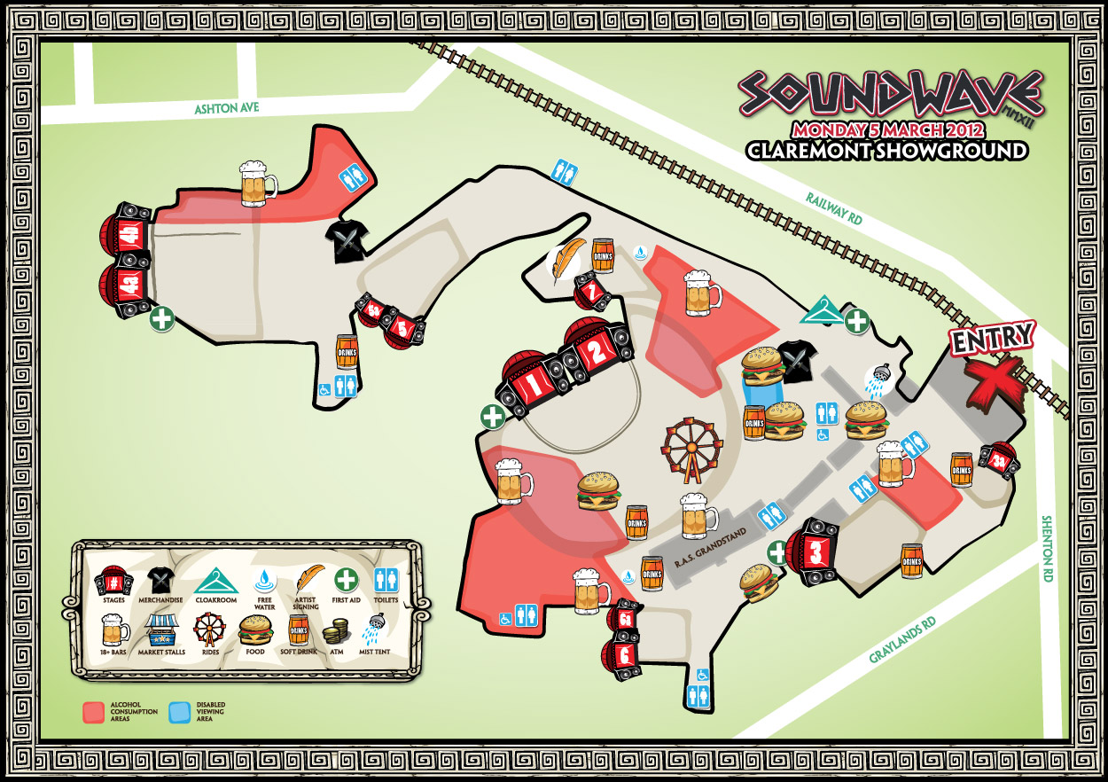 Soundwave 2012 Perth Map