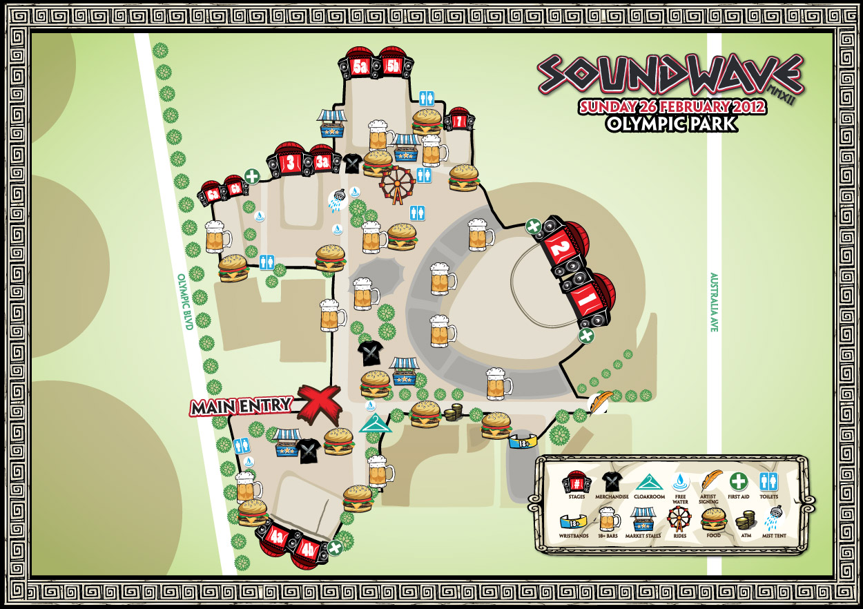 Soundwave 2012 Sydney Map
