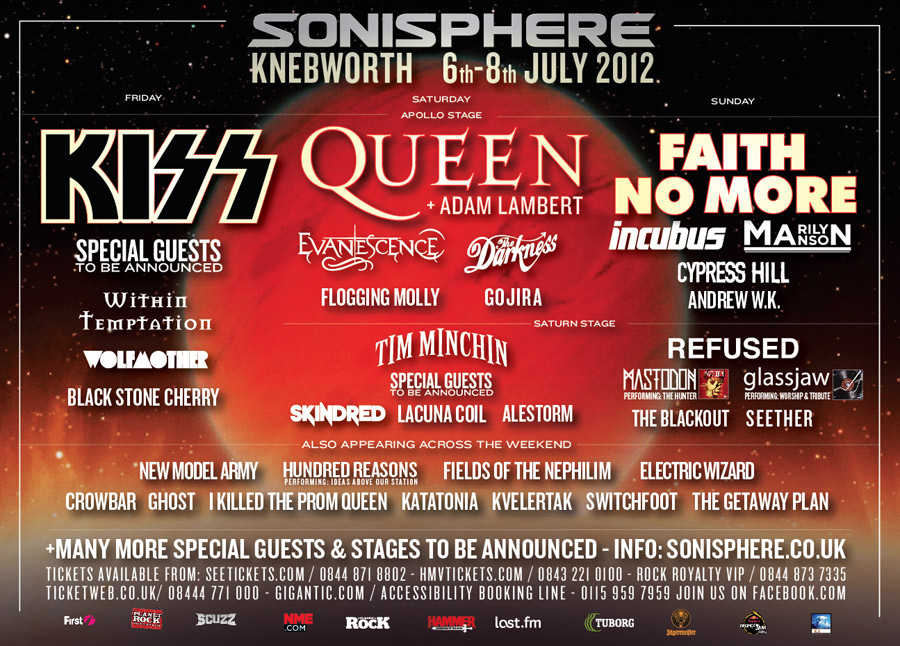 Sonisphere Poster 6th March