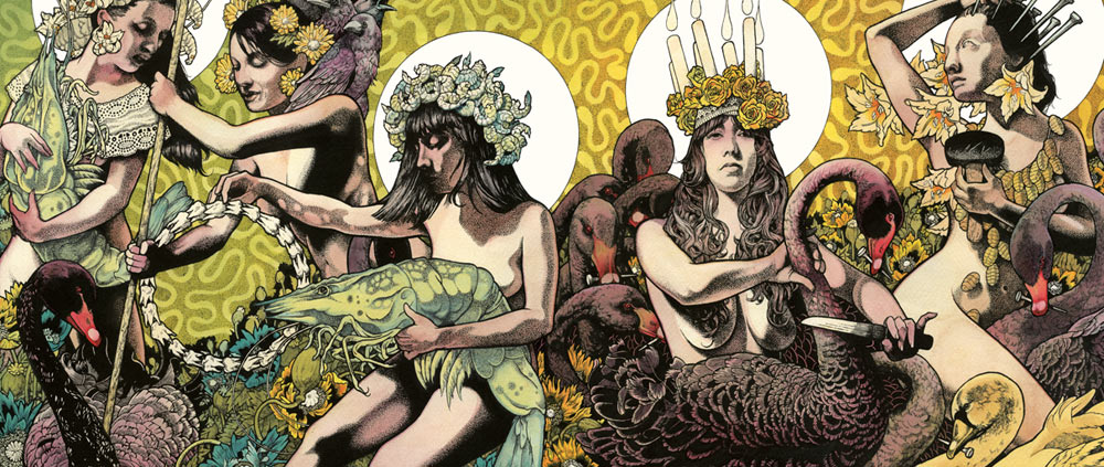Baroness Yellow And Green Artwork