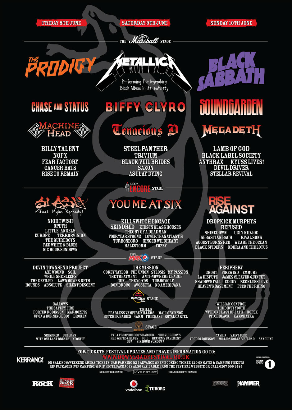 Download Festival Poster 2nd May 2012